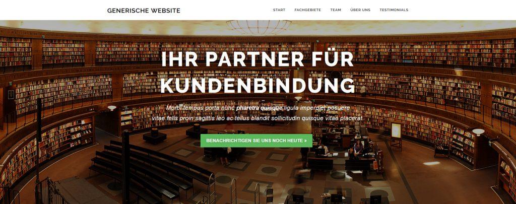 Screenshot einer generischen Website mit ansprechendem Design.